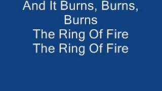 Johnny Cash The Ring Of Fire (with lyrics) YouTube Videos