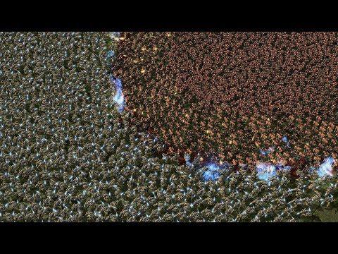 5000 MARINES vs 5000 ZEALOTS - Starcraft 2 MASSIVE Battles