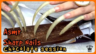 CHOCOLATE SESSION! SHARP NAILS  aggressive SCRATCHING HARD ! Triggers and tingles!