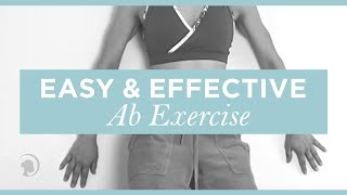 An Easy and Effective Ab Exercise Using Only a Wall Thumbnail