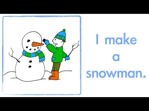 Fun Winter Song Lyrics for Kids - Winter is Here - We Wish You A Merry Christmas - Elf Learning