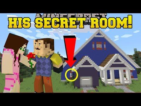 Minecraft: MY NEIGHBOR'S SECRET ROOM!!! - Hello Neighbor - Custom Map