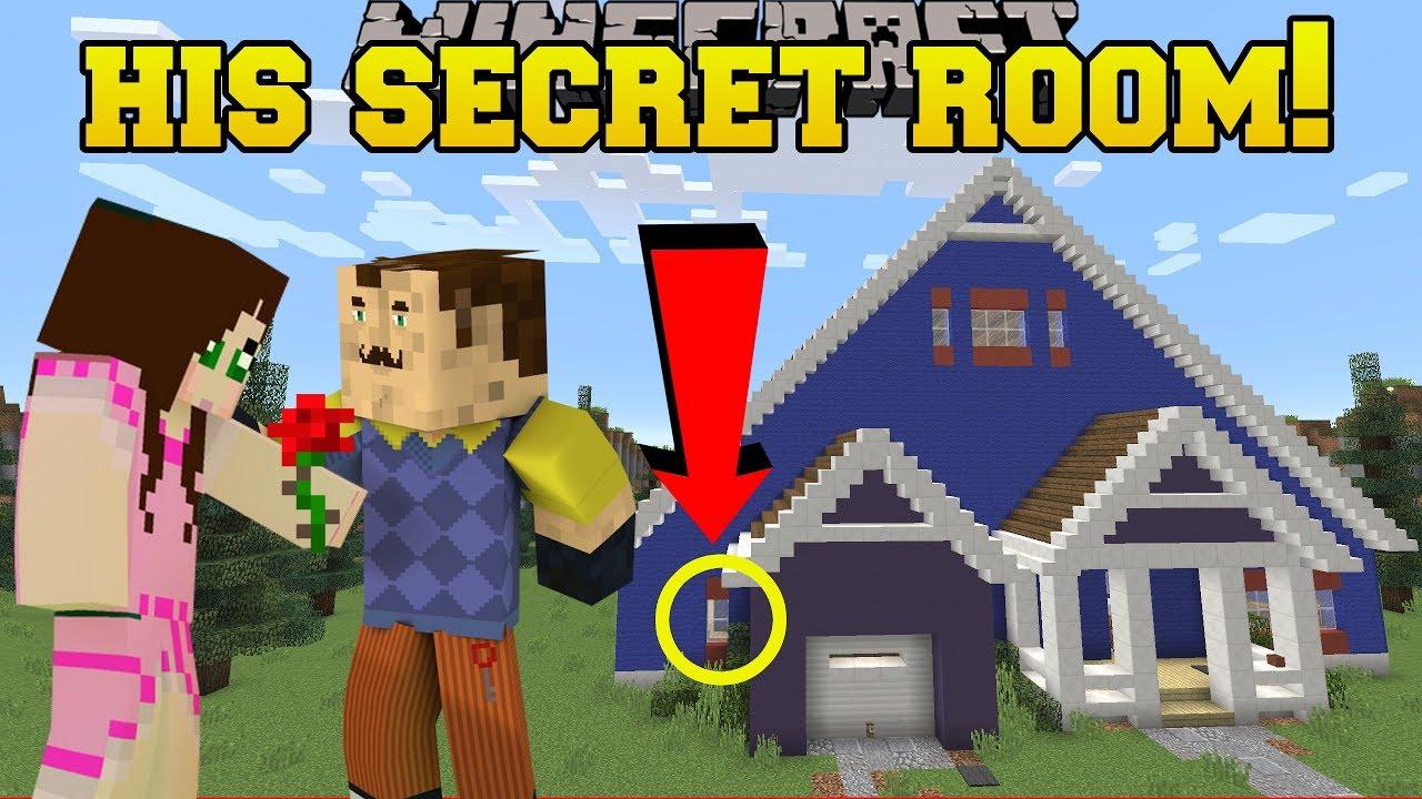 Minecraft: MY NEIGHBOR'S SECRET ROOM!!! – Hello Neighbor – Custom Map
