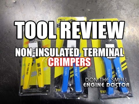Open Barrel Terminal Crimping Tool With 6 3mm Tab Locator