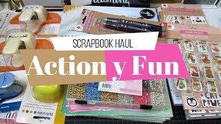 Compras Scrapbook Haul en Action y Fun de Bélgica