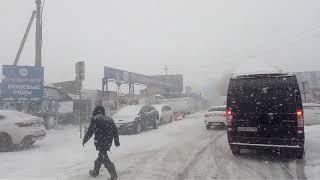Первый снег 2018! Ростов-на-Дону !коллапс на дорогах! 12-13 ноября