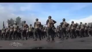 Parata militare del Fronte Islamico e discorso di Zahran Allouch