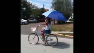 Miss Shonal Patel avoiding the rays