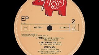 Irene Cara ~ Hot Lunch Jam 1980 Disco Purrfection Version