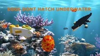 NOT HATCHING EGGS UNDERWATER!!! | Roblox Dinosaur Simulator