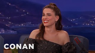 Amanda Peet Laughed Through Her Sex Scenes With Hank Azaria  - CONAN on TBS