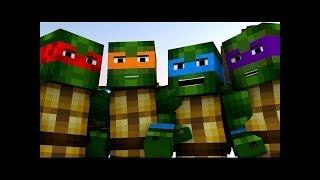 Черепашки Ниндзя в Майнкрафте Minecraft Анимация, На Русском .