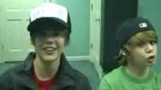 Justin Bieber and Christian Beadles Working Out