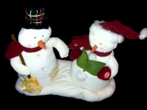 2003 1st HALLMARK JINGLE PALS Snowman Couple WE WISH YOU A MERRY ...