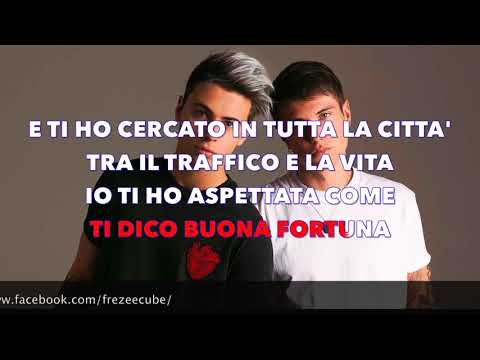 Benji & Fede - Buona fortuna - Karaoke con testo