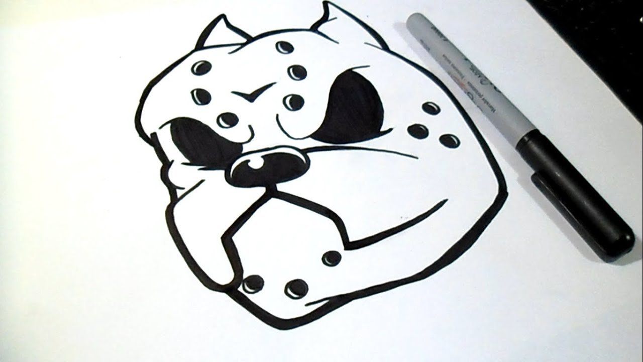 como desenhar um cão pitbull grafite thinkd art by wörld youtube