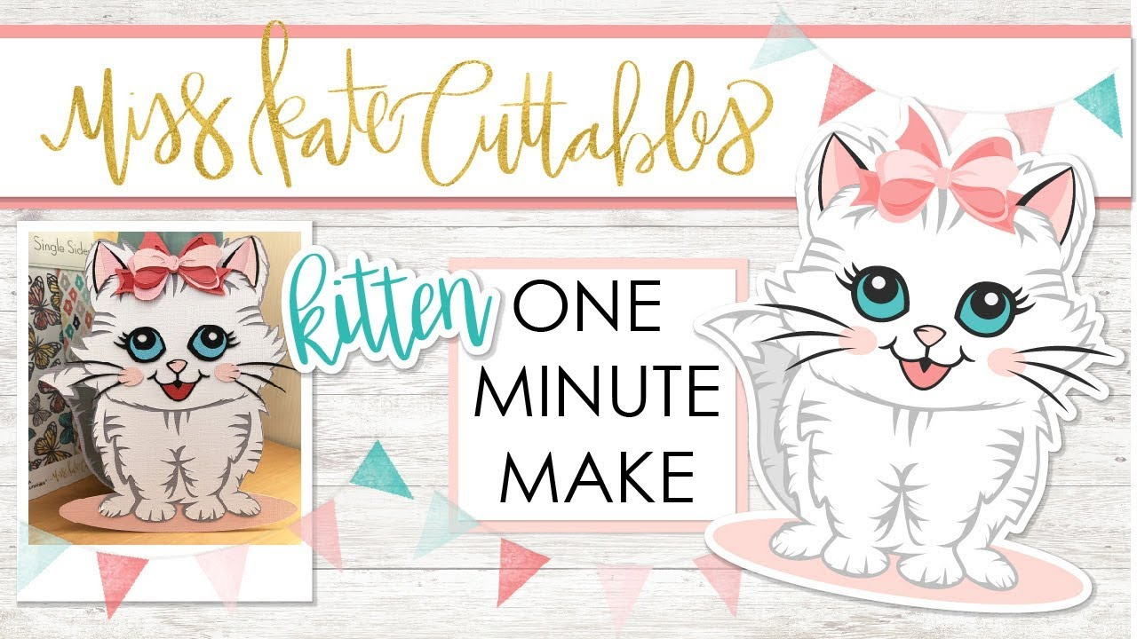 Download 1 Minute Make - Cute Kitten - Layered SVG How To Tutorial ...