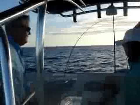 Deep sea fishing and pole goes overboard youtube for Deep sea fishing west palm beach