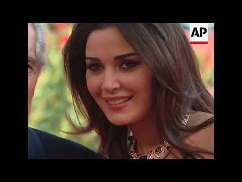 Omar Sharif and Cyrine Abdel Nour attend premiere