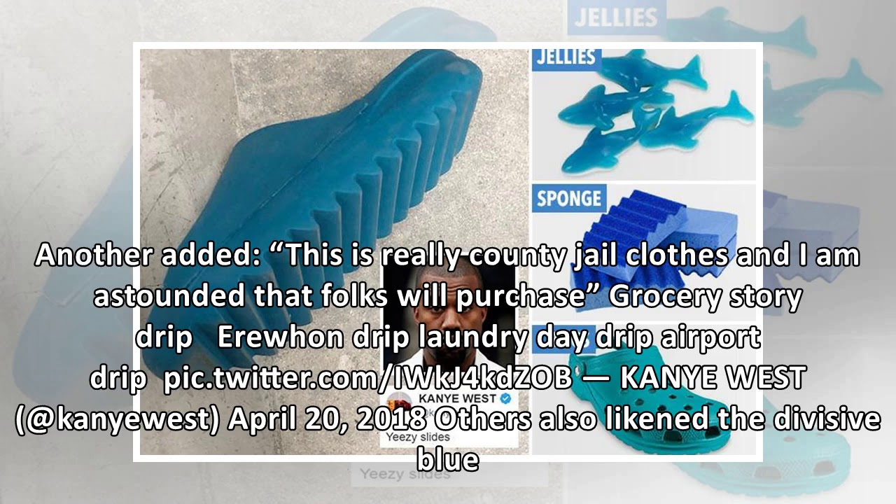 8ee26f457 Kanye West shared pictures of his new Yeezy slides and everyone is making  the same joke