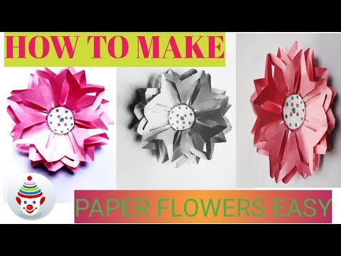Paper flowers easy !!  DIY decorations