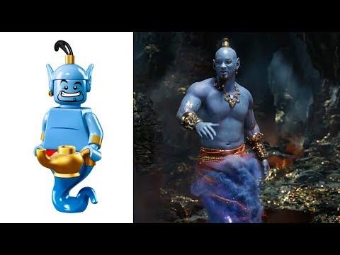 Aladdin LEGO Minifigures VS Movie & Cartoon Characters