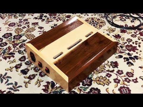 DIY  custom guitar effects pedalboard from  scrap wood