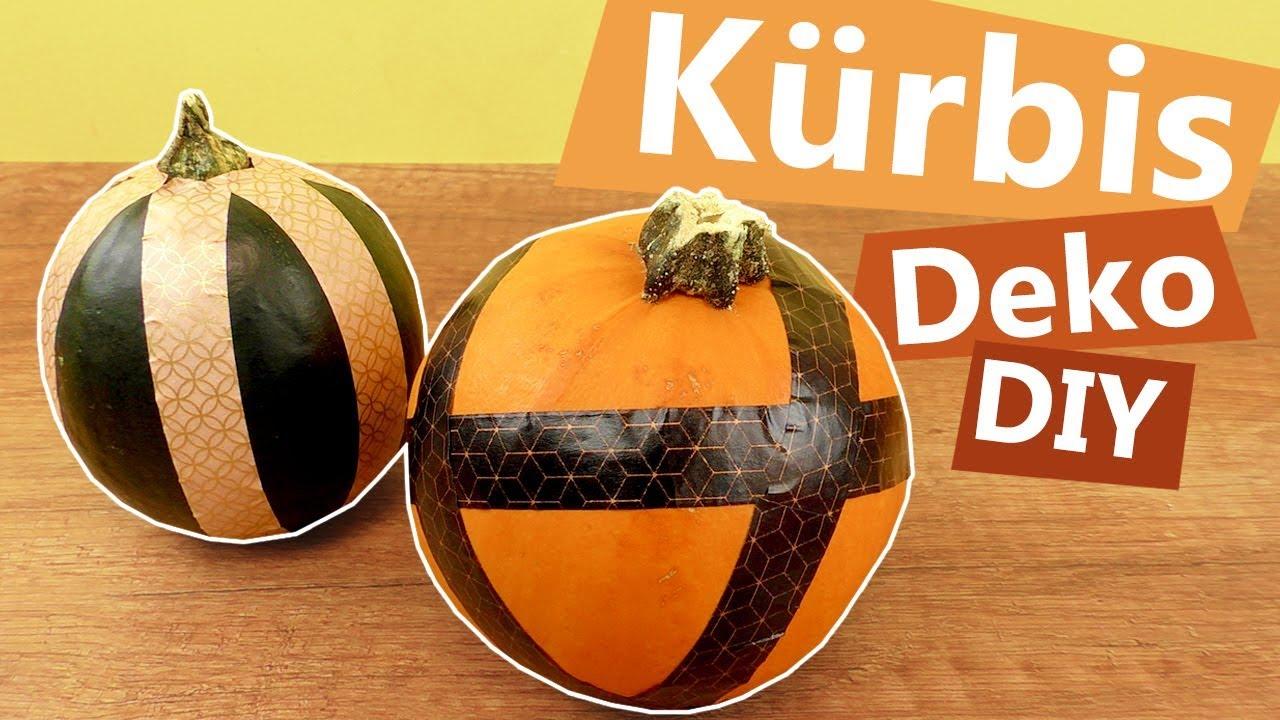 DIY Kürbis Deko Mit Kindern Basteln | Kürbise OHNE Messer Verzieren |  Washitape Idee