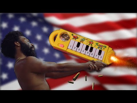 THIS IS AMERICA... but it's played on a $1 piano