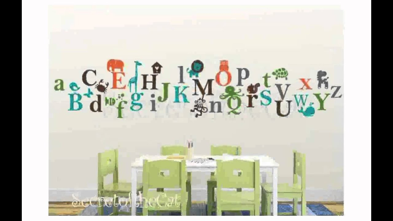 Alphabet Wall Decal YouTube