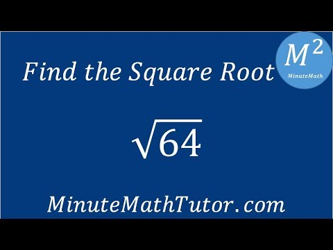 Find The Square Root 64 Youtube