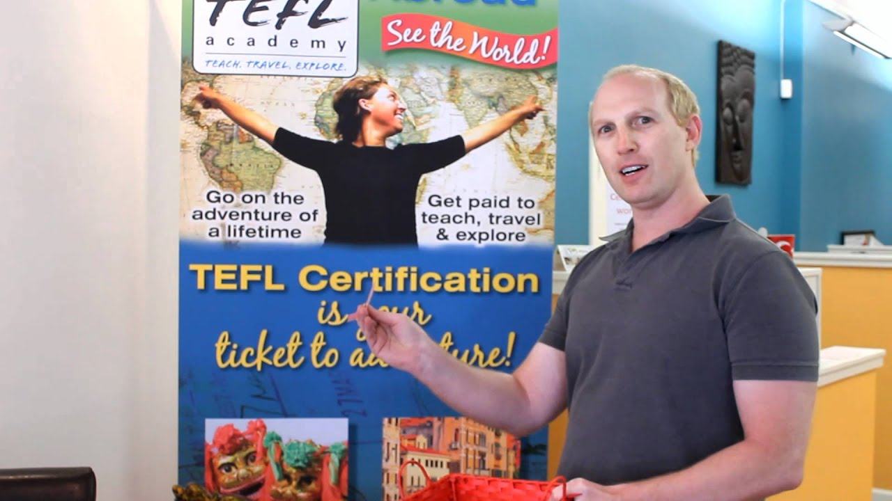 Nafsa Conference Winner Of The Free Tefl Course Drawing Youtube