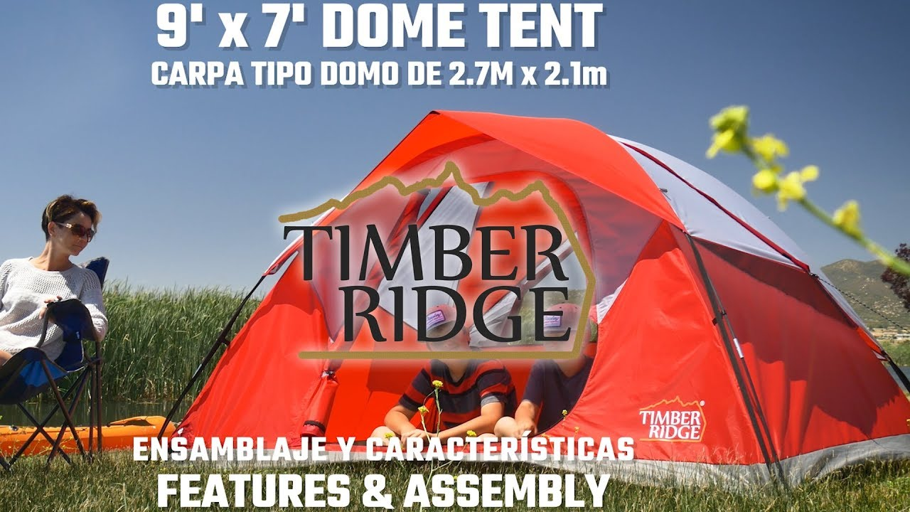 9x7 Dome Tent - Features u0026 Setup. Timber Ridge Tents  sc 1 st  YouTube & 9x7 Dome Tent - Features u0026 Setup - YouTube