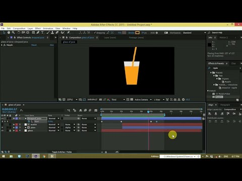 juice Glass LIQUID ANIMATION | After effects | motion graphics tutorial