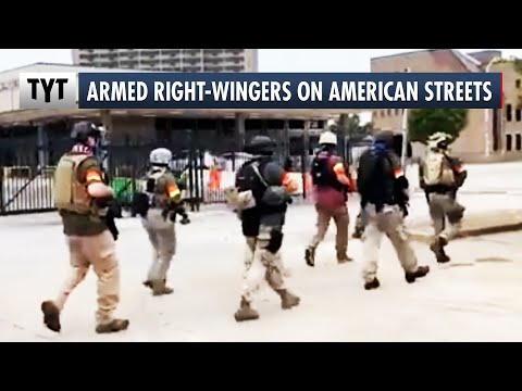 Armed Right-Wing Gang Marches Through Louisville