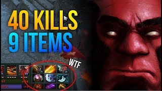 CANT STOP THIS AXE! - Not Human 9 Items 40 Kills Super Power Axe by Ahjit Dota 2