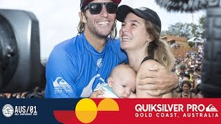 Owen Wright's Emotional Post-Win Interview - Quiksilver Pro Gold Coast 2017 Top 10 Video