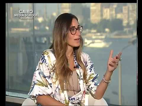 Ismail Fouad Kassem interviews the Egyptian actress Amina Khalil - TV Interviewer July workshop