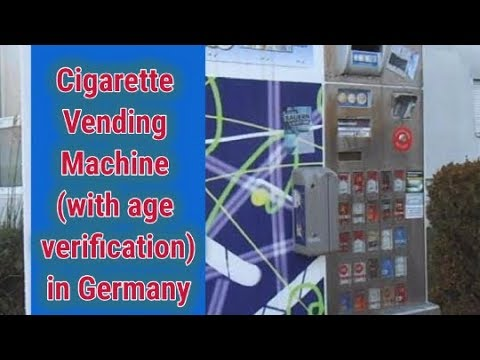 Cigarette Vending Machine (with age verification) in Germany – in Bahasa