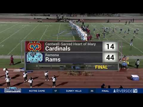 High School Football - Ramona vs Cantwell Sacred Heart of Mary