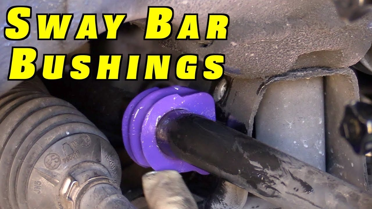 how to replace sway bar bushings [ 1280 x 720 Pixel ]