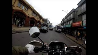Un video captó la rápida persecución de un motorista de Carabineros de Temuco