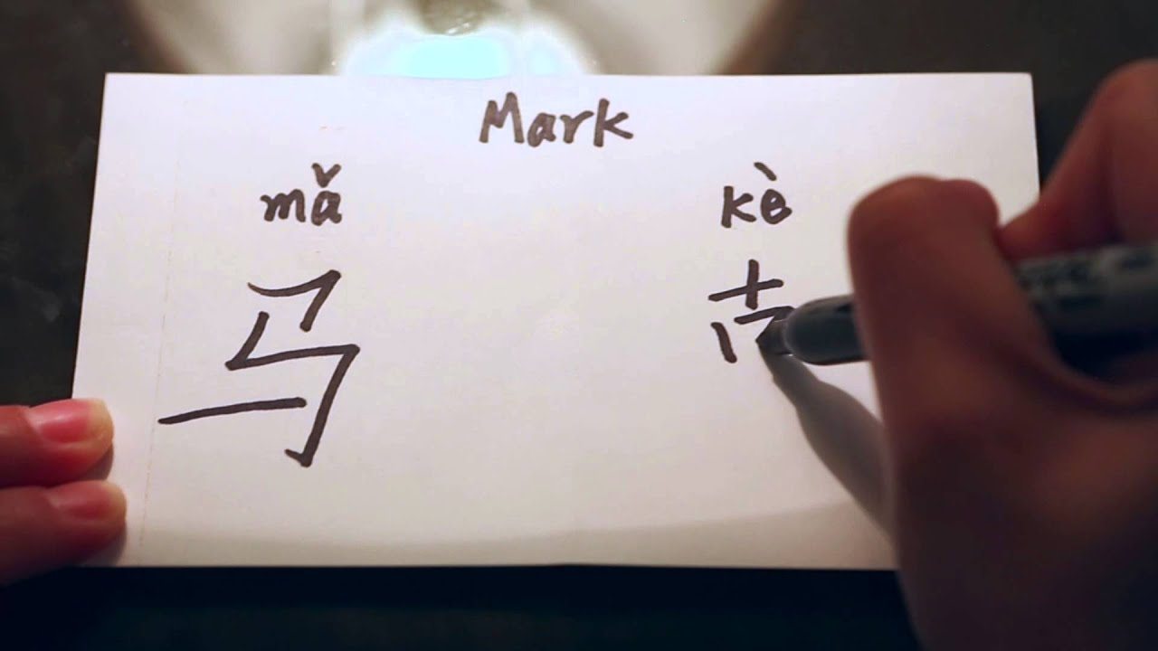 How to write the name mark in chinese characters youtube how to write the name mark in chinese characters expocarfo Gallery