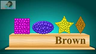 Learn colors with shapes balls and Coloring Rhymes for kids and Children  Noorthi Learn Colors