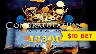 Game of Thrones Slot $10 Max Bet *BIG WIN SESSION* Mother of Dragons Bonus!(The Game of Thrones slot machine uses Aristocrat's huge