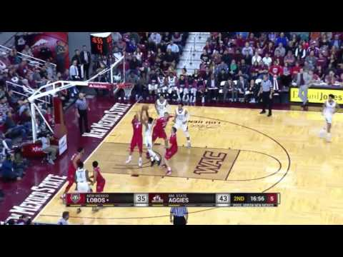 Jemerrio Jones highlights - NMSU v. UNM - 10 Dec 2016