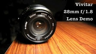 Vivitar Wide Angle Lens in 28mm f/2.8 MC For Konica AR SLR & DSLR or Mirrorless Digital Cameras