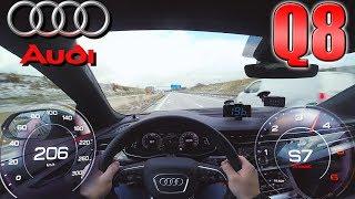 Audi Q8 50 TDI pushing on German Autobahn ✔