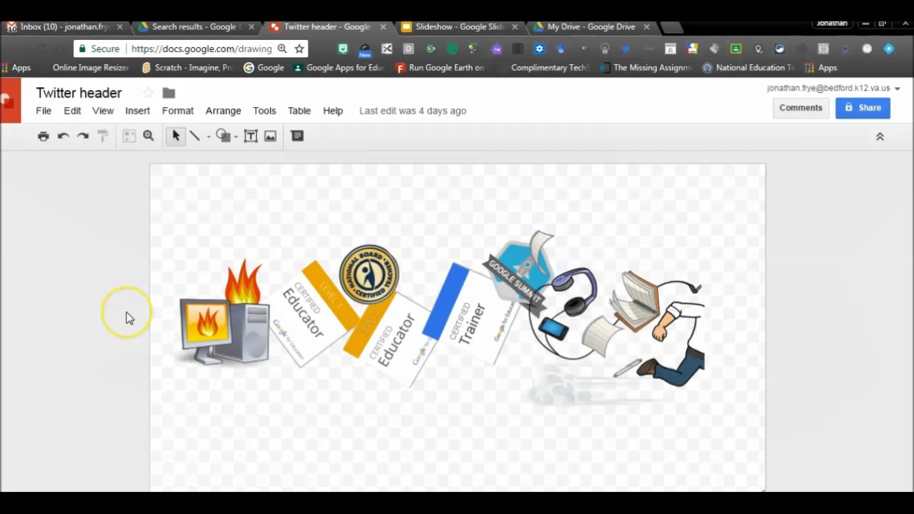 How To Insert Google Drawing Into Google Slides Youtube