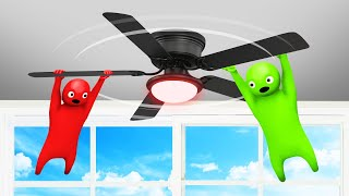 HOLD ON To The CEILING FAN To WIN! (Gang Beasts Competition)